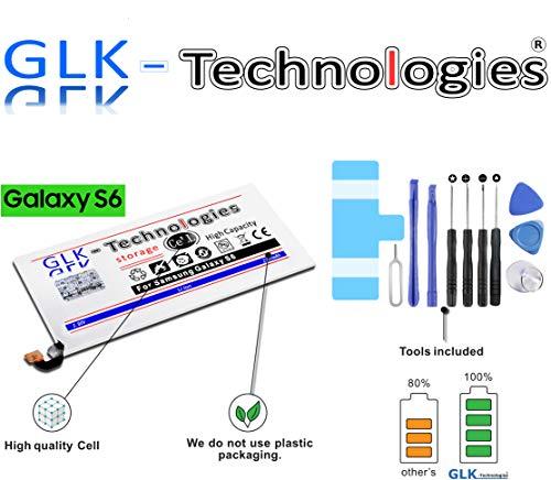 High Power Ersatzakku für Samsung Galaxy S6 SM-G920F / EB-BG920ABE| Original GLK-Technologies Battery | accu | 2700 mAh Akku | inkl. Werkzeug Set Kit 2020 B.j