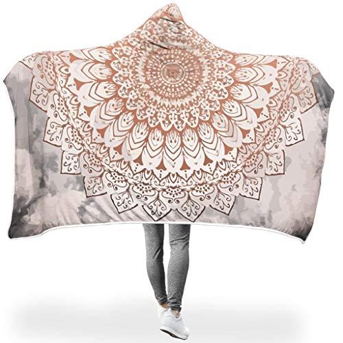 NC83 vleermuisdeken Rose Night Mandala patroon druk microvezel comfortabele robe - etnische stijl extra groot geschikt voor wooncultuur gebruik