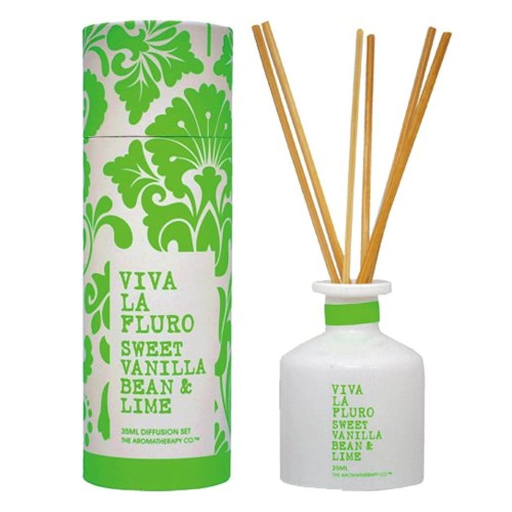 後世反動失業VIVA LA FLURO ミニディフュージョンスティック 35ml スウィートバニラビーン&ライム Sweet Vanilla Bean & Lime ビバ?ラ?フルーロ