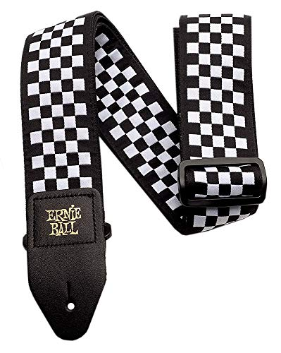 ERNIE BALL アーニー・ボール ギター/ベース用ストラップ 4149 Black and White Checkered Jacquard Strap