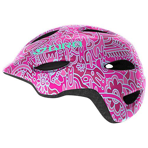 Giro Unisex Jugend Scamp Fahrradhelm Youth, pink Flower Land, XS (45-49cm)