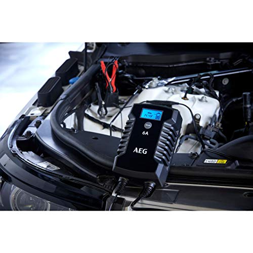 AEG Automotive 10617 Mikroprozessor-Ladegerät Auto Batterie LD 6.0, 6 Ampere für 6/12 V, 7-HF Ladestufen, Autostartfunktion Komfortanschluss
