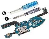 MMOBIEL Conector Dock Carga Repuesto Compatible con Samsung Galaxy S4 Mini i9195 i9190 CableFlex con Adhesivo Incl Htas.