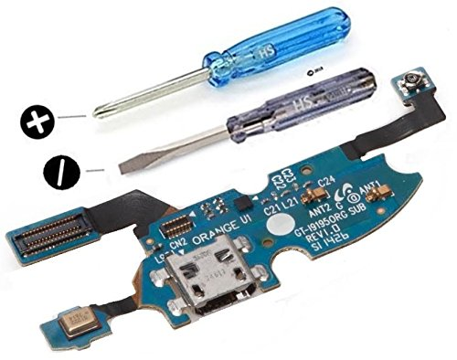 MMOBIEL Connettore Dock Compatibile con Samsung Galaxy S4 Mini i9195 i9190 Porta per caricare Micro Cavo Flessibile incl cacciaviti
