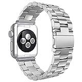 Aottom Compatible con Apple Watch SE 6 5 4 3 2 1, 42mm 44mm Correa, Correa Acero Inoxidable, Correas del Reloj para Hombre Mujer, Pulsera de Repuesto Correa para Apple Watch Series