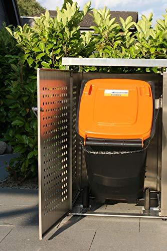 Mülltonnenbox Edelstahl für 2 Mülltonnen (240 l) - 9