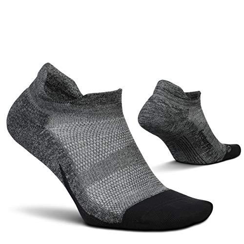 Feetures Unisex Elite Light Cushion No Show Tab Sock Solid