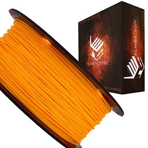 Filamentwerk 3D-Drucker PET-G 1,75mm 1kg Spule Rolle (Neon Hellorange)