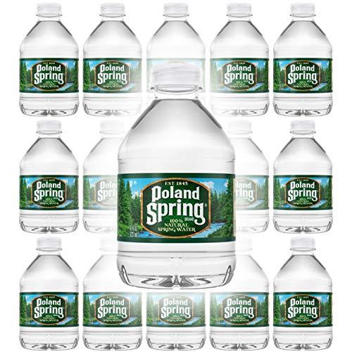 Poland Spring 100% Natural Spring Water, 8oz Bottle (Pack of 15, Total of 120 Fl Oz)