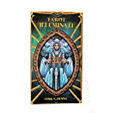 Green Cross Toad Illuminati Tarot -The Light Within por Erik C Dunne, Baraja de Tarot de 78 Cartas con Instrucciones Multilingues