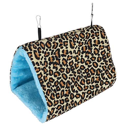 ffu Hamaca de pájaro suave, casa de cama caliente nido colgante para mascotas, alfombra de jaula de cabina de tienda