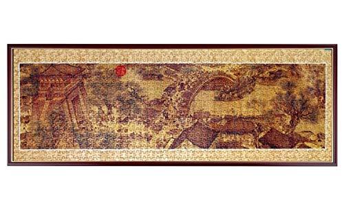 TAIZ 1000 Piezas de Rompecabezas for Adultos Rompecabezas Cartón Qingming río Arriba del Mapa, Juegos educativos, Brain Challenge Puzzle for niños for niños (sin Marco) tamaño 98 x 34cm