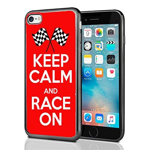 Keep Calm and Race on für iPhone 7(2016) & iPhone 8(2017) Schutzhülle von Atomic Markt