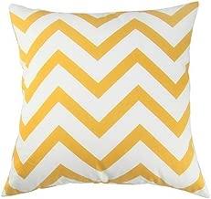 CoolDream Scandinavia Canvas Cotton Chevron Design Decorative Throw Pillow Cover 18 X 18 inch