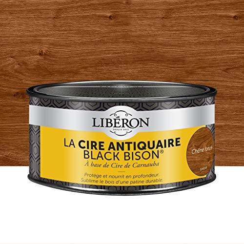 """LIBERON Cire antiquaire """"Black Bison"""" en pâte - Apportant résistance aux chocs et à l'eau, Chêne foncé, 500mL"""