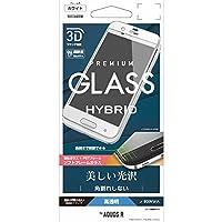 ラスタバナナ AQUOS R用フィルム 強化ガラス/全面保護/光沢/3Dソフトフレーム/角割れしない ホワイト SG833AQORW