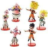 6 unids / Lote Dragon Ball Z Super Saiyan Son Goku Gohan Gotenks Majin BU Boo Q Versión Estatua PVC acción Colecect Modelo de Juguete