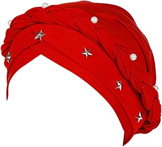 huge discount 591b5 790e3 XUANOU Women Beading Braid Muslim Bonnet Hijab Headscarf Headscarf Chemo  Caps