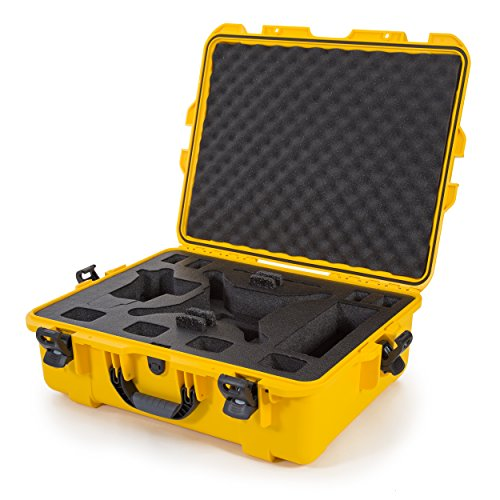 Nanuk DJI Drone Waterproof Hard Case with Custom Foam Insert for DJI Phantom 4/ Phantom 4 Pro (Pro+) / Advanced (Advanced+) & Phantom 3-945-DJI44 Yellow
