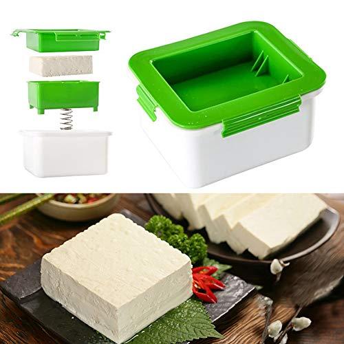 Tofu Press Drainer Selbstgemachte Press Drain Box entfernt Wasser aus dem Tofu ohne Beschädigungen und Schmutz Dreischichtiger DPresser Eingebaute Drainage