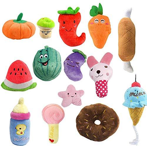 Oncpcare Juego de 12 juguetes para perros, divertidos juguetes para masticar perros que reducen el sonido, soledad, juguetes para perros de peluche