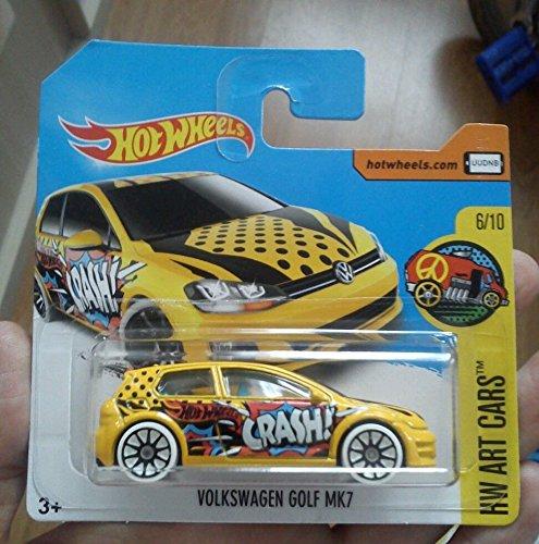 Hot Wheels 2017 Volkswagen Golf MK7 Yellow 16/365 (Short Card)