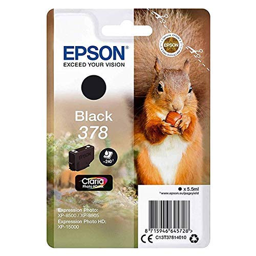 Epson c13t37814010Cartuchos de Tinta original Pack of 1 válido para EPSON Expression Photo XP-8500 & Expression Photo HD XP-15000