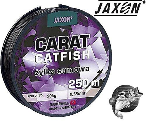 Jaxon Angelschnur Carat Catfish Welsschnur monofile Wels 250m Spule 0,45/0,50/0,55mm (0,45mm/30kg)
