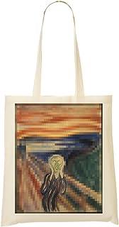 a77f9b315fd59b 1GD Edvard Munch The Scream Pixeled Sac Fourre-Tout Sac À Provisions