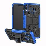 TiHen Handyhülle für Asus Zenfone 5Z ZS620KL ZE620KL Hülle, 360 Grad Ganzkörper Schutzhülle + Panzerglas Schutzfolie 2 Stück Stoßfest zhülle Handys Tasche Bumper Hülle Cover Skin mit Ständer -Blau