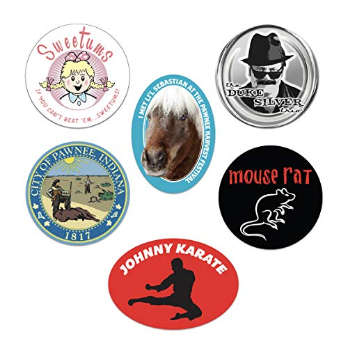 Parks and Recreation Merchandise, Stickers by Papersalt, Set of 6