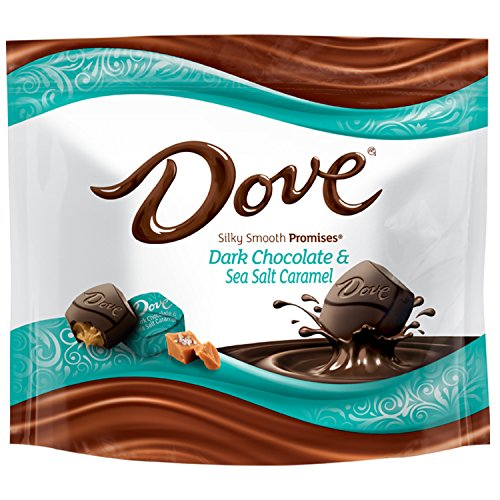 DOVE PROMISES Sea Salt & Caramel Dark Chocolate Candy 7.61-Ounce Bag (Pack of 8)