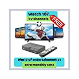Catvision Set Top Box for Free Reception of 107 SD & HD Channels