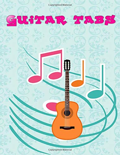Guitar Tabs: Beautiful Easy Acoustic Guitar Tabs Size 8.5x11 Inches ~ Large - Blank # Note ~ Glossy Cover Design White Paper Sheet 100 Page Very Fast Print.