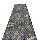 Modern Blending Area Rug Gray, Durable Hallway Carpet Non Slip Runner Rug for Laundry Room Kitchen Office, 60-120cm Wide by 1-6m Long (Size : 100x500cm)