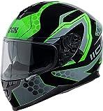 IXS Casco 1100 2.2, negro/verde, L (59/60)