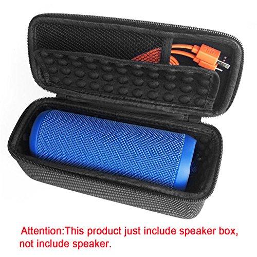 Beschermhoes voor JBL Flip 3, draagbare draadloze bluetooth-luidspreker, beschermbox, harde reisschaal, schokbestendig, met tas voor USB-kabel