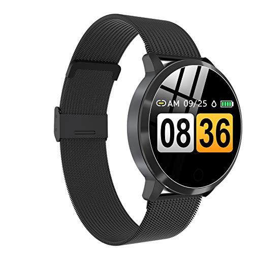 Mettime - Reloj inteligente para mujer con Bluetooth, resistente al agua, con frecuencia cardíaca, seguimiento del sueño, podómetro, recordatorio de llamadas, reloj inteligente para mujer
