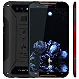 CUBOT Outdoor Smartphone ohne Vertrag Quest Lite, 4G LTE 5 Zoll HD Display,IP68 Wasserdicht Android 9.0 Sport Handy, 3GB Ram+32GB Rom Dual SIM Dual Kamera 13M / 8MP, Schwarz+Rot
