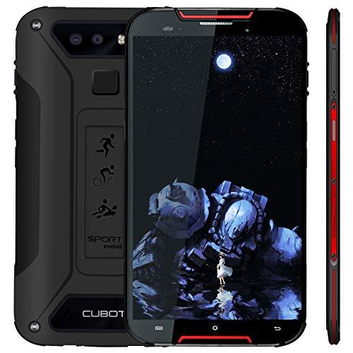 CUBOT Outdoor Smartphone ohne Vertrag Quest Lite, 4G LTE 5 Zoll HD Bildschirm,IP68 Wasserdicht Android 9.0 Sport Handy, 3GB Ram+32GB Rom Dual SIM Dual Kamera 13M / 8MP, Schwarz+Rot