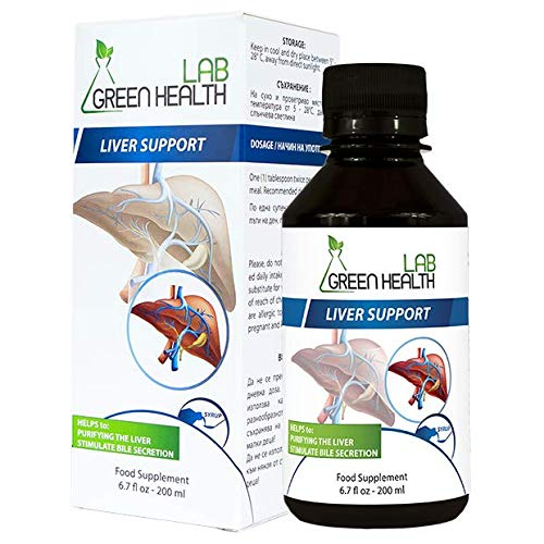 Natural Liver Support Drops – Liver Care Supplements for Women and Men to Gently Cleanse and Detox The Liver – Liver Detox Drink with Milk Thistle Extract by Green Health Lab, 200 mL
