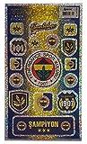 Fenerbahce Istanbul Aufkleber Karte - Glitzer Aufkleberkarte FB 1907 -