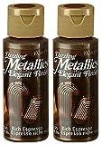 2-Pack - DecoArt Dazzling Metallics Acrylic Colors - Rich Espresso, 2-Ounces Each