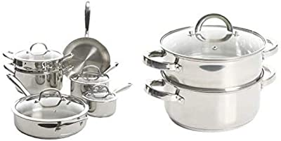 Kenmore Devon Stainless Steel Cookware and Oster Steamer Combo