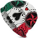 Gorro Punk Rock con diseño de cráneo, Gorro de Invierno