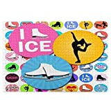 Ice Skating I Love Figure Skating Jigsaw Puzzle 1000 Pieces for Adults Brain IQ Developing Magical Game (29.5' x 19.7')