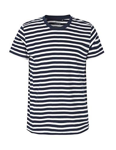 -Neutral- T-Shirt, 100% Bio-Baumwolle. Fairtrade, Oeko-Tex und Ecolabel Zertifiziert, Textilfarbe: bwgestreift, Gr.: XL