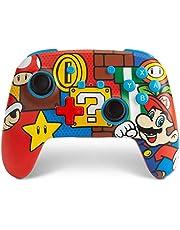 PowerA Enhanced Wireless Controller for Nintendo Switch – Mario Pop Nintendo Switch Lite, Gamepad, Game Controller, Bluetooth Controller, Amazon Exclusive