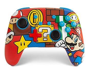 PowerAEnhanced Wireless Controller for Nintendo Switch - Mario Pop  Only at Amazon