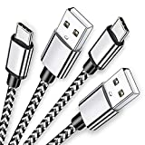 USB Type C Cable 6ft Fast Charging 2Pack Power Cord Braided Phone Charger for Samsung Galaxy A01 A11 A21 A50 A51 A71 A80 A81 A90 S10e S9 S10 S20, Moto G7 G6 G Z Z4, LG K51 Stylo 6 5 G8 V20 V60
